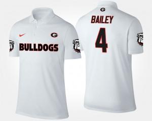 Mens #4 White Champ Bailey UGA Polo 833225-480