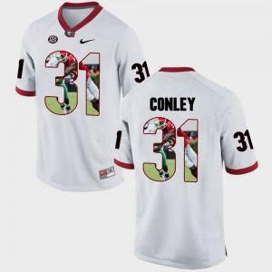 Chris Conley UGA Jersey Men Pictorial Fashion #31 White 160291-863