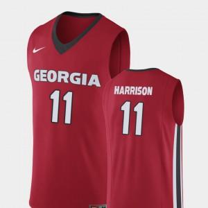 Christian Harrison UGA Jersey #11 Replica College Basketball Red Men 760869-150