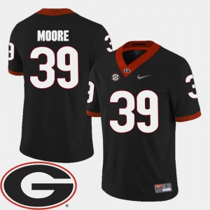 #39 2018 SEC Patch For Men's Corey Moore UGA Jersey Black College Football 472292-208