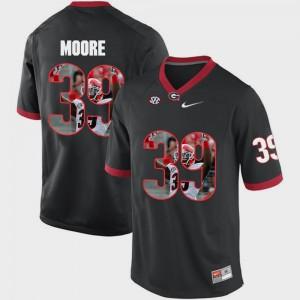 Pictorial Fashion Men Corey Moore UGA Jersey #39 Black 202791-276