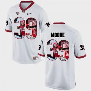 #39 White Pictorial Fashion Men Corey Moore UGA Jersey 747868-423