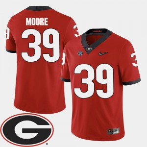 Men's Corey Moore UGA Jersey #39 2018 SEC Patch Red College Football 463630-127