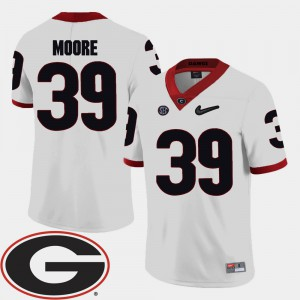 College Football White For Men Corey Moore UGA Jersey 2018 SEC Patch #39 368912-713