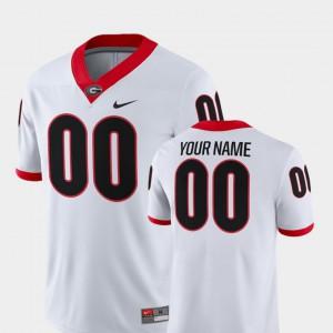 College Football 2018 Game UGA Custom Jerseys For Men White #00 695931-463