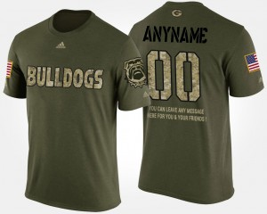 Military Camo UGA Customized T-Shirts For Men's #00 Short Sleeve With Message 428137-721