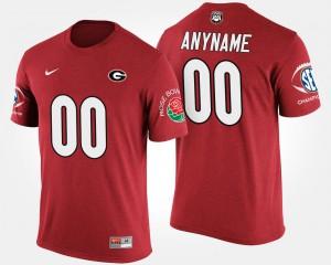 Men's Southeastern Conference Rose Bowl Bowl Game UGA Customized T-Shirt #00 Red 364340-668