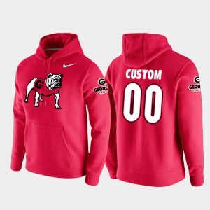 #00 Mens Vault Logo Club Red UGA Customized Hoodie College Football Pullover 259400-198