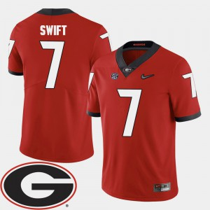 #7 For Men D'Andre Swift UGA Jersey 2018 SEC Patch College Football Red 279047-115