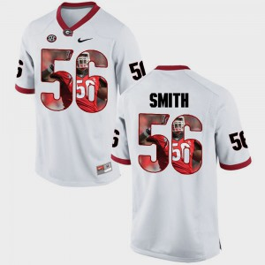 White Garrison Smith UGA Jersey #56 Pictorial Fashion Mens 901743-896