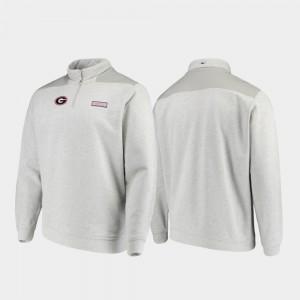 UGA Jacket Men's Gray Shep Shirt Quarter-Zip 535460-592
