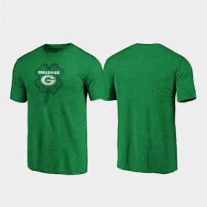 UGA T-Shirt For Men St. Patrick's Day Green Celtic Charm Tri-Blend 386216-369