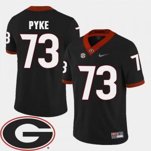College Football 2018 SEC Patch Black Greg Pyke UGA Jersey #73 Men 488598-580