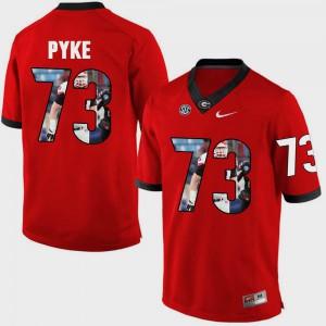 Red Greg Pyke UGA Jersey Pictorial Fashion #73 For Men's 886239-977