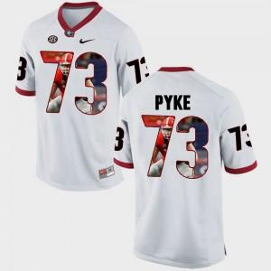 Pictorial Fashion Men's #73 Greg Pyke UGA Jersey White 745377-701