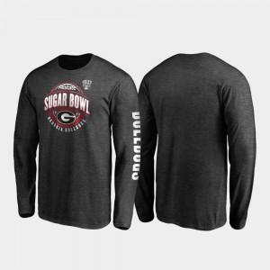 2020 Sugar Bowl Bound Neutral Stiff Arm Long Sleeve Heather Charcoal Men's UGA T-Shirt 641934-453