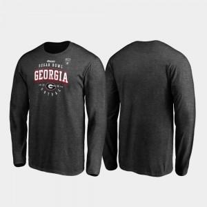 Tackle Long Sleeve UGA T-Shirt Heather Gray For Men 2020 Sugar Bowl Bound 647681-285