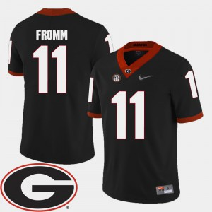 Jake Fromm UGA Jersey 2018 SEC Patch Men's College Football #11 Black 493242-797