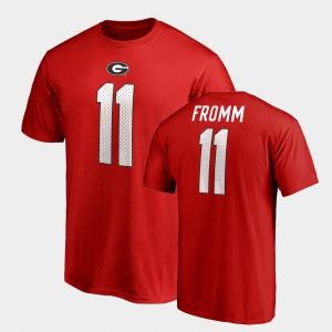 Name & Number College Legends #11 Red Jake Fromm UGA T-Shirt Mens 539208-905