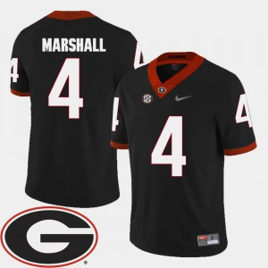 2018 SEC Patch Keith Marshall UGA Jersey Black #4 Men College Football 996590-968