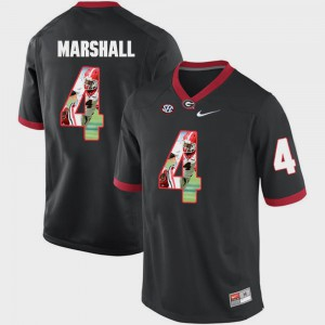 For Men's Black #4 Keith Marshall UGA Jersey Pictorial Fashion 632275-977
