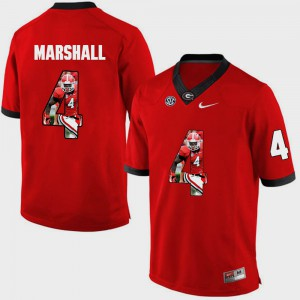 Keith Marshall UGA Jersey Men's #4 Pictorial Fashion Red 360274-754
