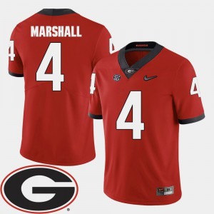 Keith Marshall UGA Jersey Men 2018 SEC Patch College Football Red #4 729937-159