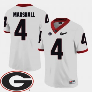 For Men's White Keith Marshall UGA Jersey College Football 2018 SEC Patch #4 349768-328