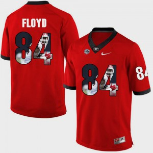 Pictorial Fashion #84 Red Leonard Floyd UGA Jersey Mens 748194-234