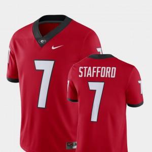 Red #7 Alumni Football Game For Men's Matthew Stafford UGA Jersey Player 237786-404