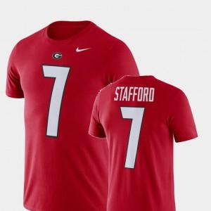 Matthew Stafford UGA T-Shirt Football Performance Men's Red #7 999471-964