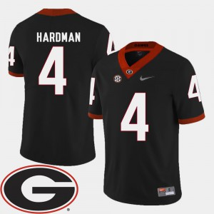 #4 2018 SEC Patch Black College Football For Men Mecole Hardman UGA Jersey 334087-998