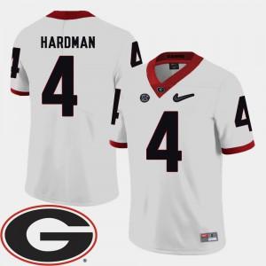 2018 SEC Patch Mecole Hardman UGA Jersey #4 College Football Men White 807285-785