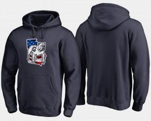 Big & Tall For Men Navy UGA Hoodie Banner State 749033-298