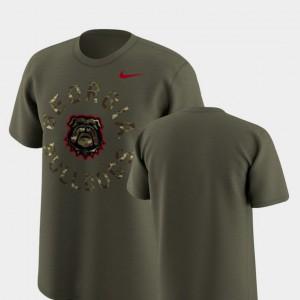 Olive Legend Camo For Men's UGA T-Shirt 509288-621