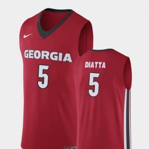 #5 College Basketball Red Pape Diatta UGA Jersey For Men Replica 866119-331
