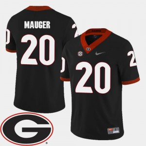 College Football Men's 2018 SEC Patch #20 Black Quincy Mauger UGA Jersey 799240-947