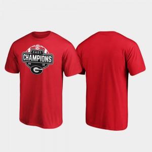 2019 SEC East Football Division Champions Men's Red UGA T-Shirt 575795-902