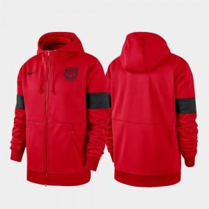 Performance Full-Zip Red UGA Hoodie 2019 Sideline Therma-FIT Men's 449389-391