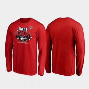 Red Men UGA T-Shirt 2020 Sugar Bowl Champions Receiver Long Sleeve 973590-935