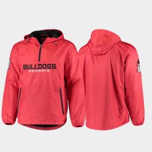 UGA Jacket Mens Half-Zip Base Runner Red 529094-436