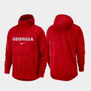 Spotlight Mens UGA Hoodie Red Basketball Team Logo Pullover 655954-261
