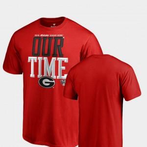 Counter Big & Tall Red For Men's UGA T-Shirt 2019 Sugar Bowl Bound 983270-587