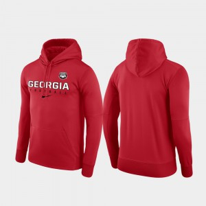 UGA Hoodie Football Practice Performance Red Mens 920551-991