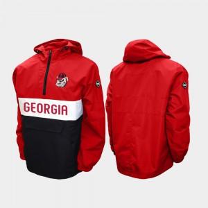 Mens Half-Zip Red Alpha Anorak Pullover UGA Jacket 623411-839