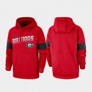 UGA Hoodie Red Pullover Performance For Men's 944325-300