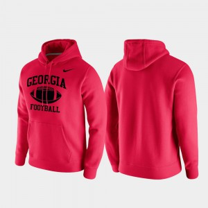 For Men Red Retro Football UGA Hoodie Club Fleece 649866-629