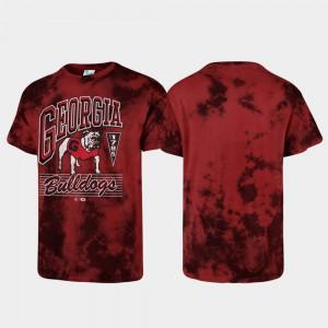 UGA T-Shirt Red For Men's Tubular Tie Dye 753512-748