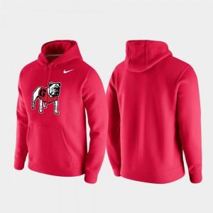UGA Hoodie Club Fleece Mens Vintage Logo Red 638950-798