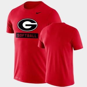 Performance Softball Red Drop Legend Men UGA T-Shirt 566939-948
